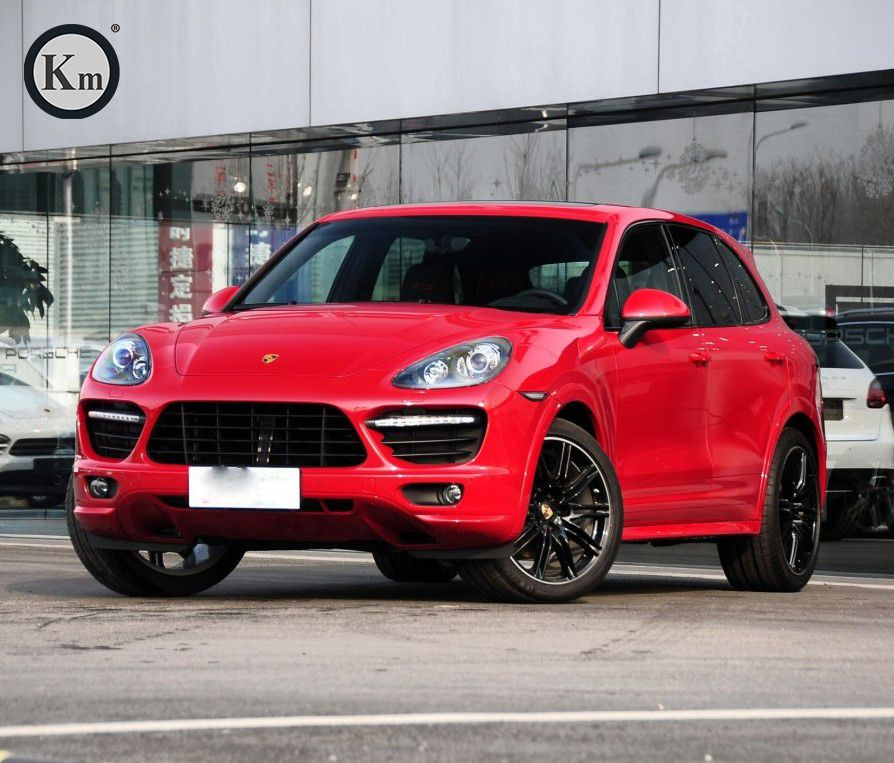 KM body kits for 2011-2014 years for Cayenne 958.1 upgrade pp material Turbo-front bumper body kit LED lights