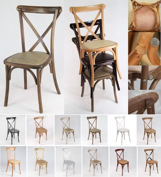 Wooden Wedding Event Dining X Cross Back Chair