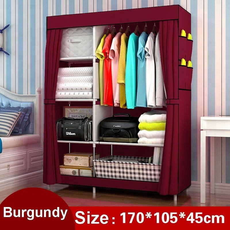 DIY non woven folding wardrobe