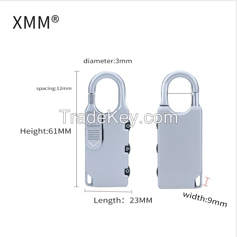 XMM High Quality Zinc Alloy Travel Suitcase Combination Locks XMM-8001