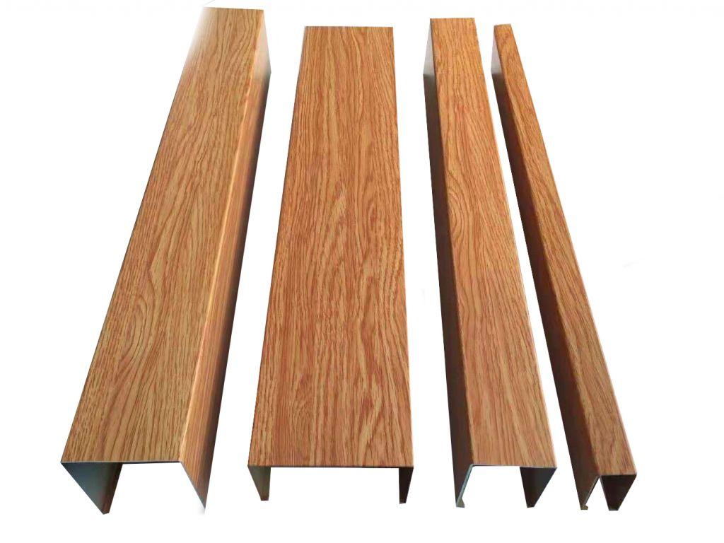 U - type wood - grain aluminum square tube manufacturers
