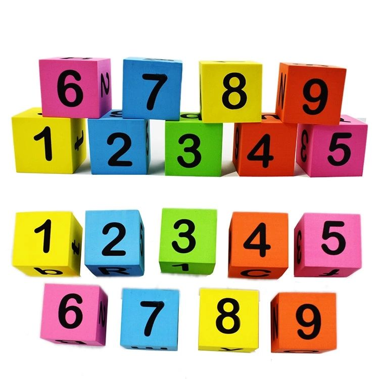 30pieces Custom Printing Logo Soft Foam Building Alphabet Numbers Stacking Blocks for Child Playing Indoor Outdoor