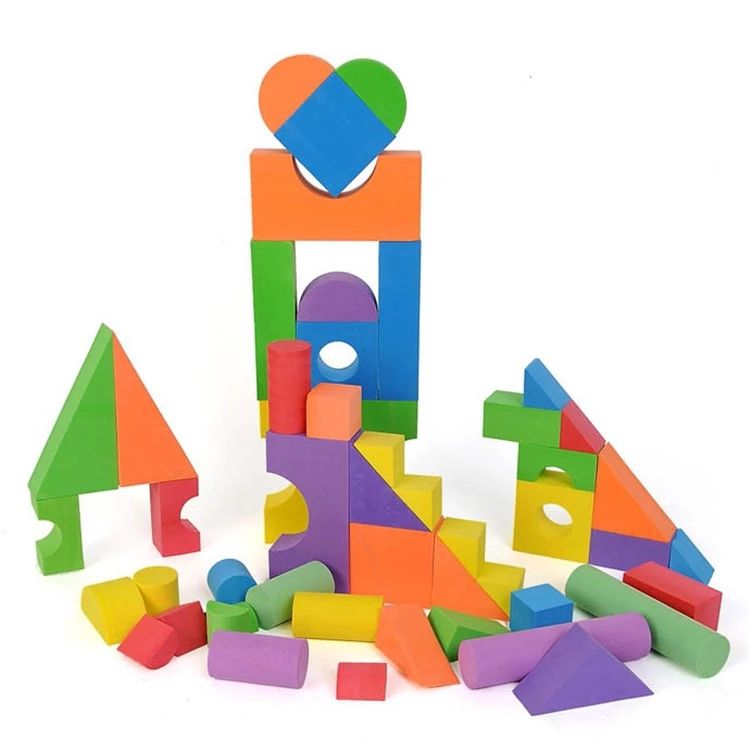Creative Educational Gift Playset EVA Foam Building Blocks Toys for Girls Boys Toddlers 52pc/set