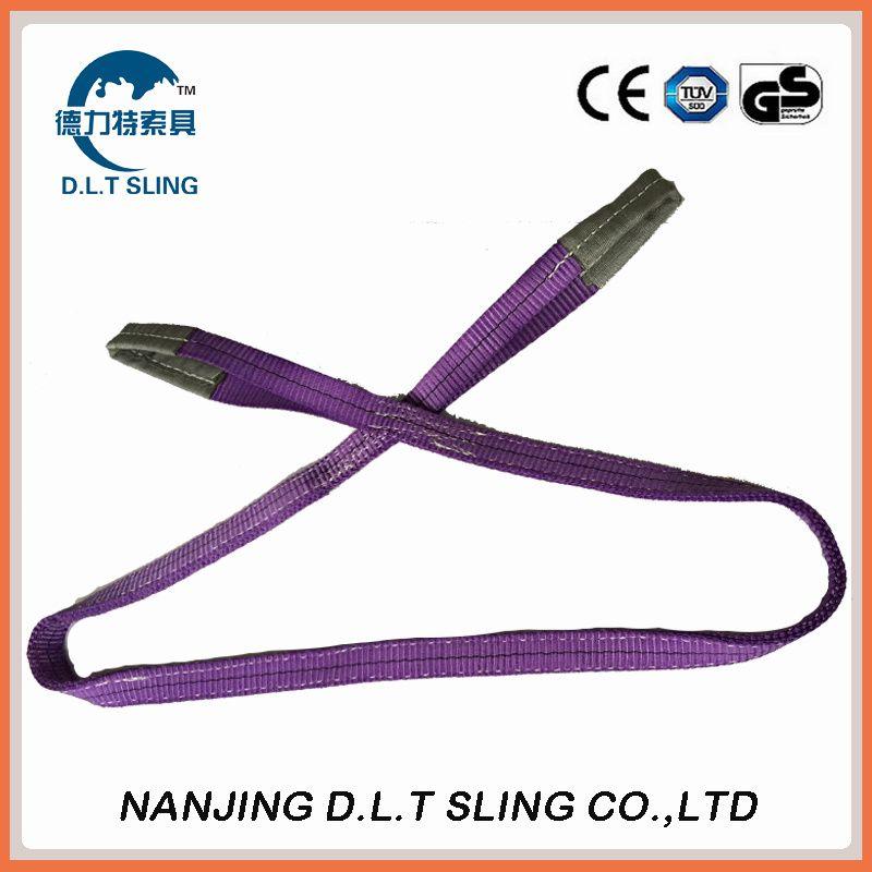 polyester flat webbing sling  1T  EN1492-1  CE, GS CERTIFICATE