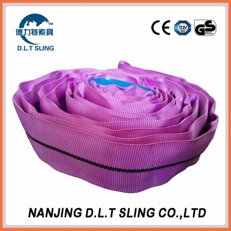 polyester endless round sling  1T  EN1492-2  CE, GS CERTIFICATE