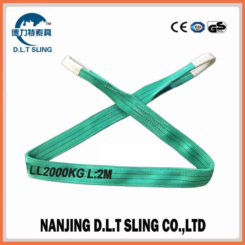 polyester flat webbing sling  2T  EN1492-1  CE, GS CERTIFICATE