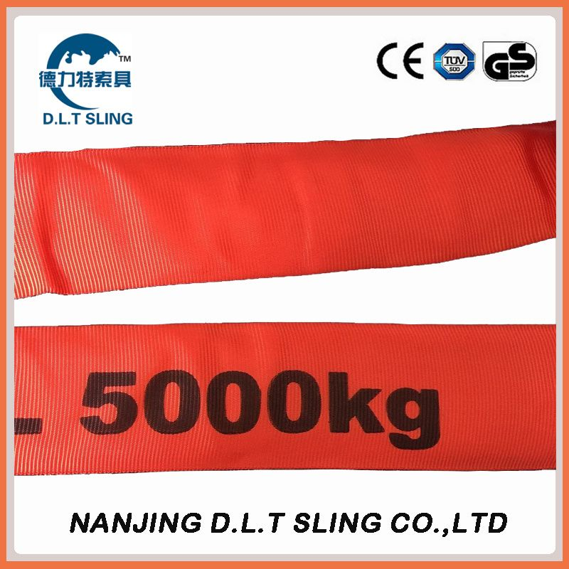 5T polyester endless round sling  EN1492-2  CE, GS CERTIFICATE
