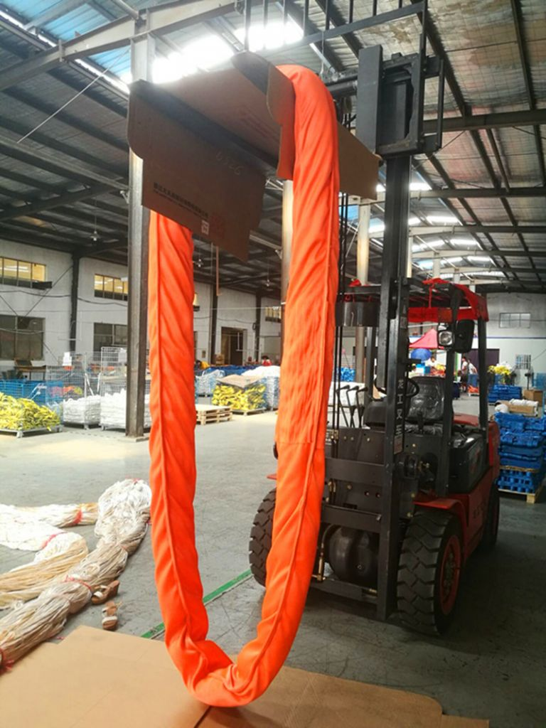 100T polyester endless round sling  EN1492-2  CE, GS CERTIFICATE