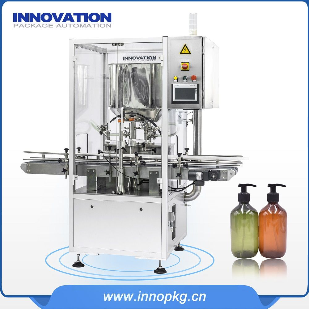 Automatic cosmetic cream filling machine with PLC control