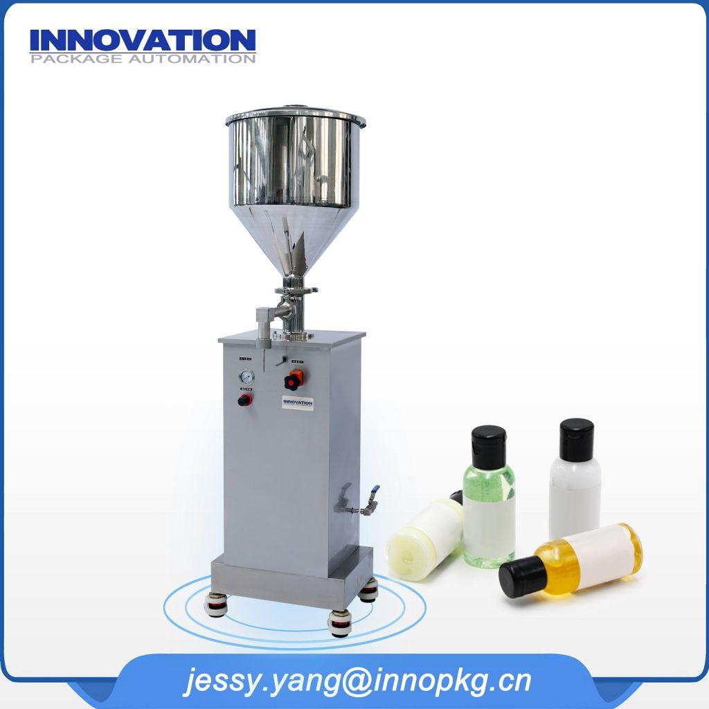 filling essential oil semi automatic glass bottle
