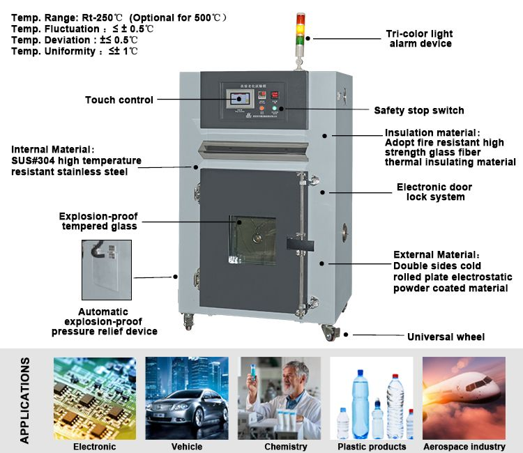 Laboratory Safety Programmable High Temperature Accelerate Aging Clima