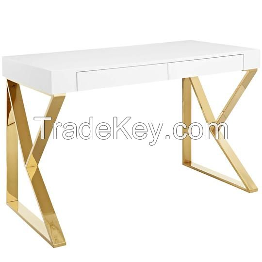 Bin Contemporary Modern Writing Desk With Storage Cubbies
