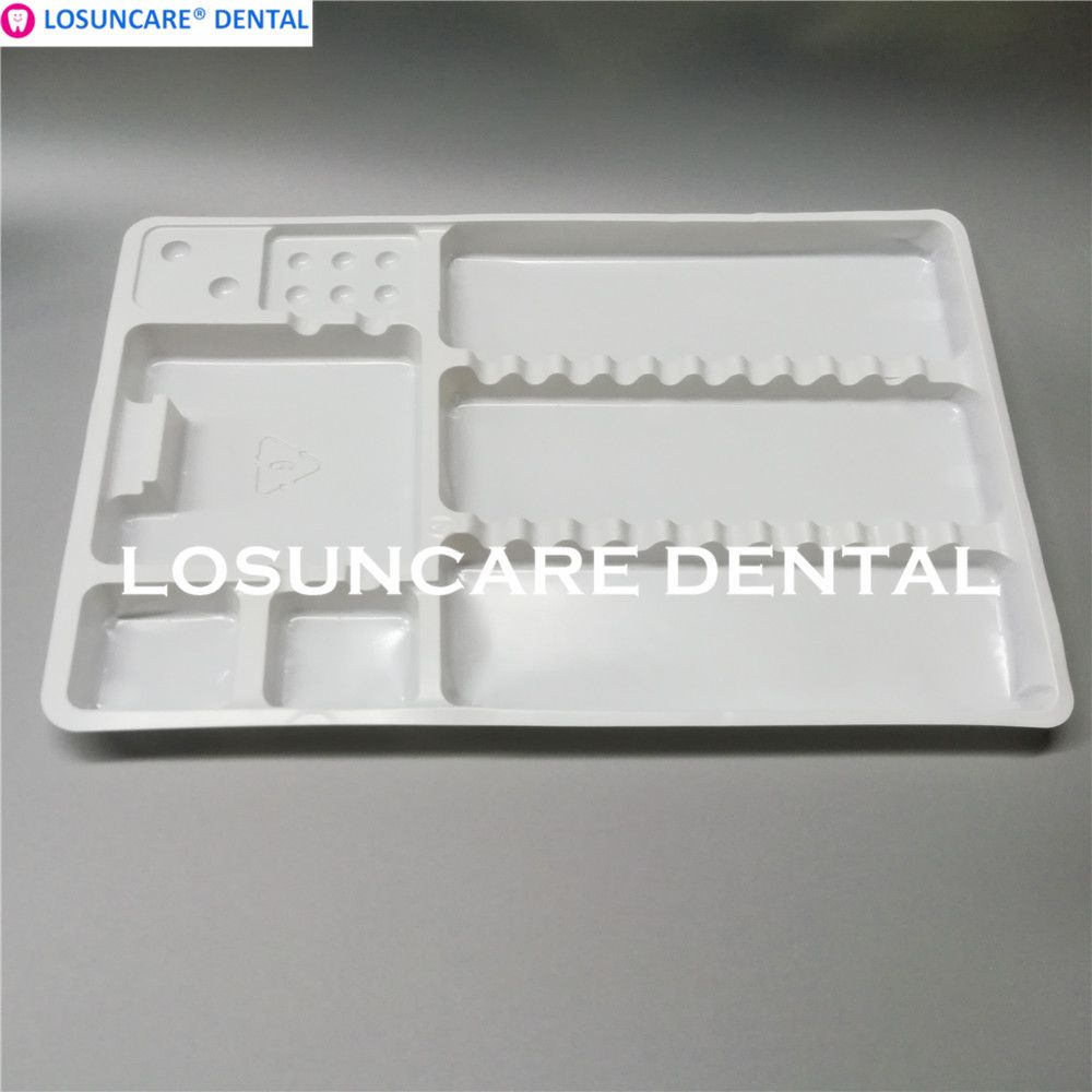 Dental Disposable Plastic Pallets Tray Segregated Placed Small and Large Dental Instruments Tray
