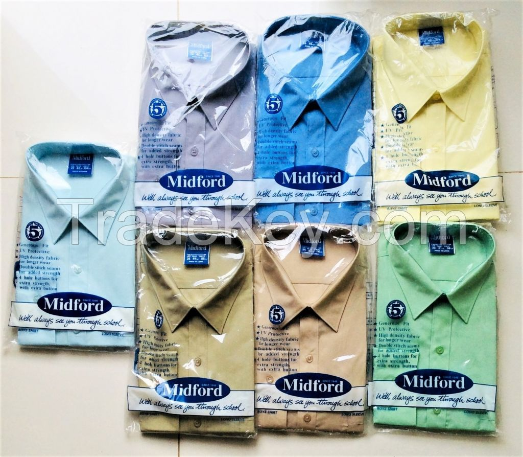 Midford Officewear and School plain colour formal\dress shirts