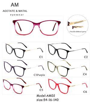 Acetate Metal Eyeglasses Frames AM02
