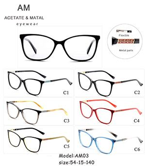 Metal Acetate Eyeglasses Frames AM03