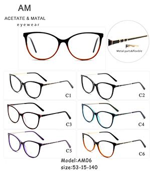 Metal Acetate Eyeglasses Frames AM06