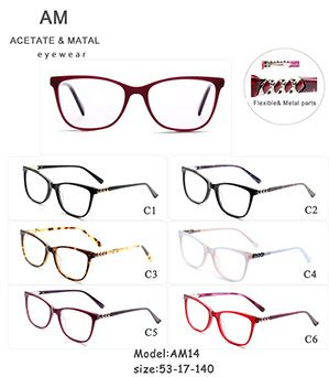 Metal Acetate Eyeglasses Frames AM14