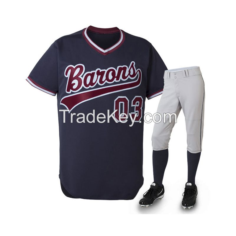 Wholesale Sublimation Baseball Jerseys With Full Botton