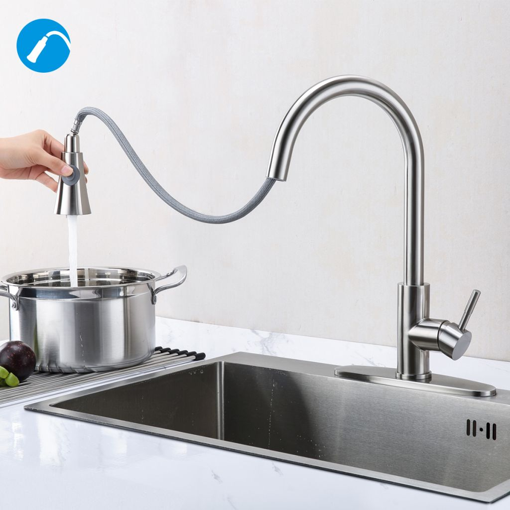Hot sale Pull Down brass Kitchen Faucet