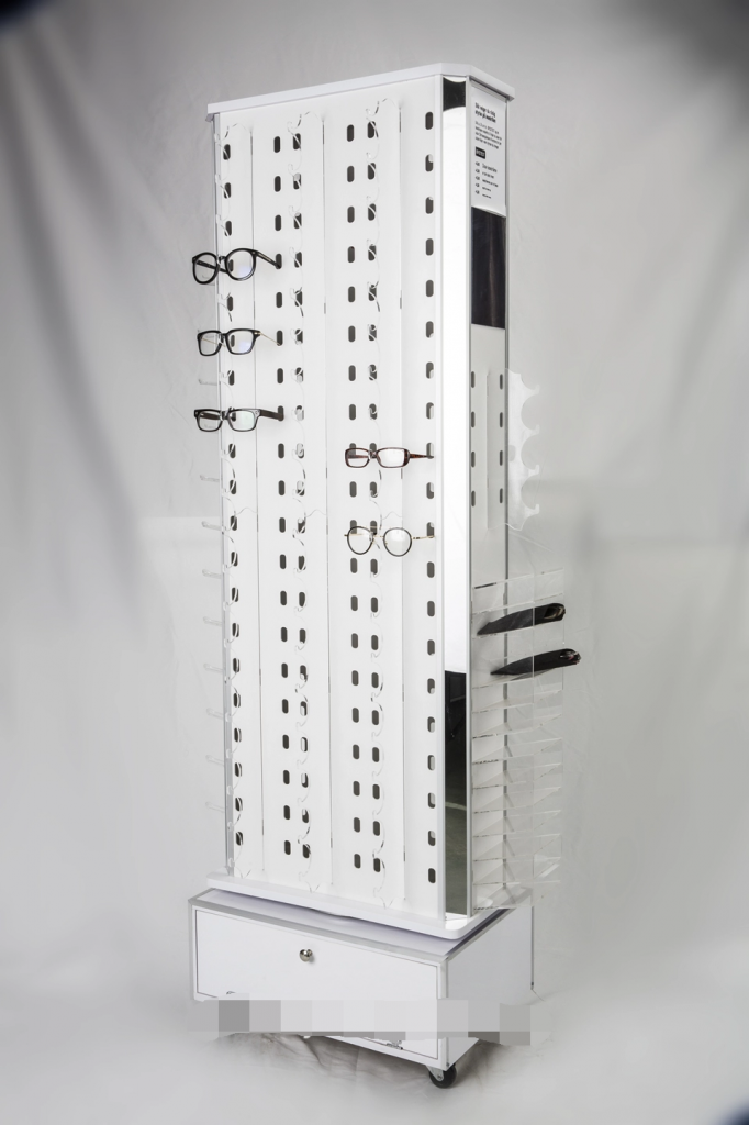 Factory Custom Floor Luxury Eyewear Optical Sunglasses Display Stand For Mall Glasses Store Furniture