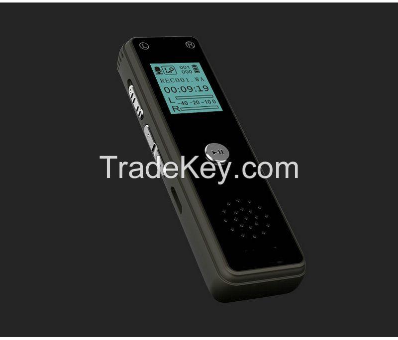Mini Music Phone Recorder One Key Audio Recording 16GB Dictaphone Digital Voice Recorder MP3 Player V80