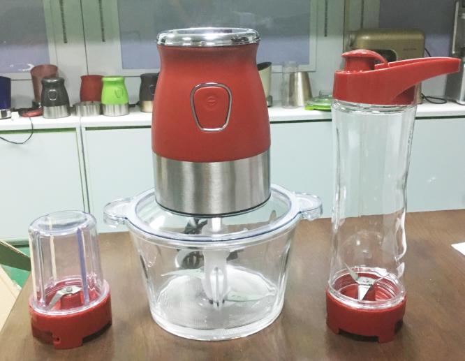TOYIN SUS304 300W 3-IN-1 Food Processor Electrical Juicer Meat Grinder Grain Grinder mutifunctional blender