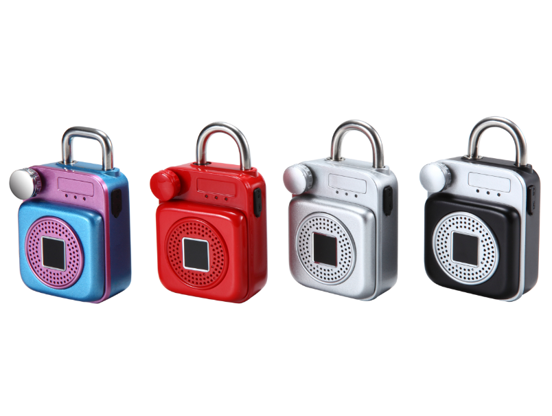 waterproof Bluetooth fingerprint padlocks but also a speaker