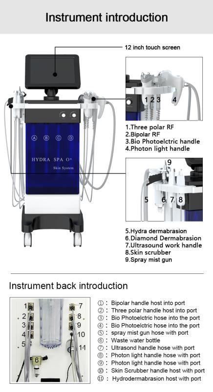 9 in 1 Hydrafacial Skin Management Spa Beauty Machine
