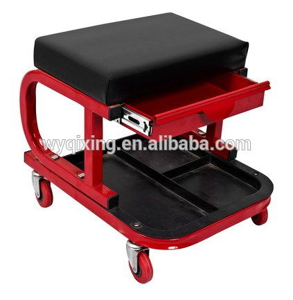 high quality car repair car seat with wheel with drawer