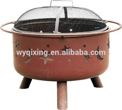 hot sale outdoor square garden steel charcoal fire pit BBQ grill fire pit outdoor