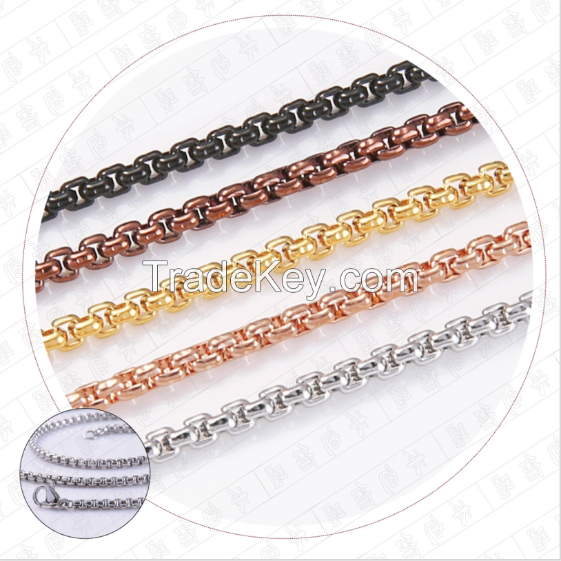 stainless steel jewelry chain necklace