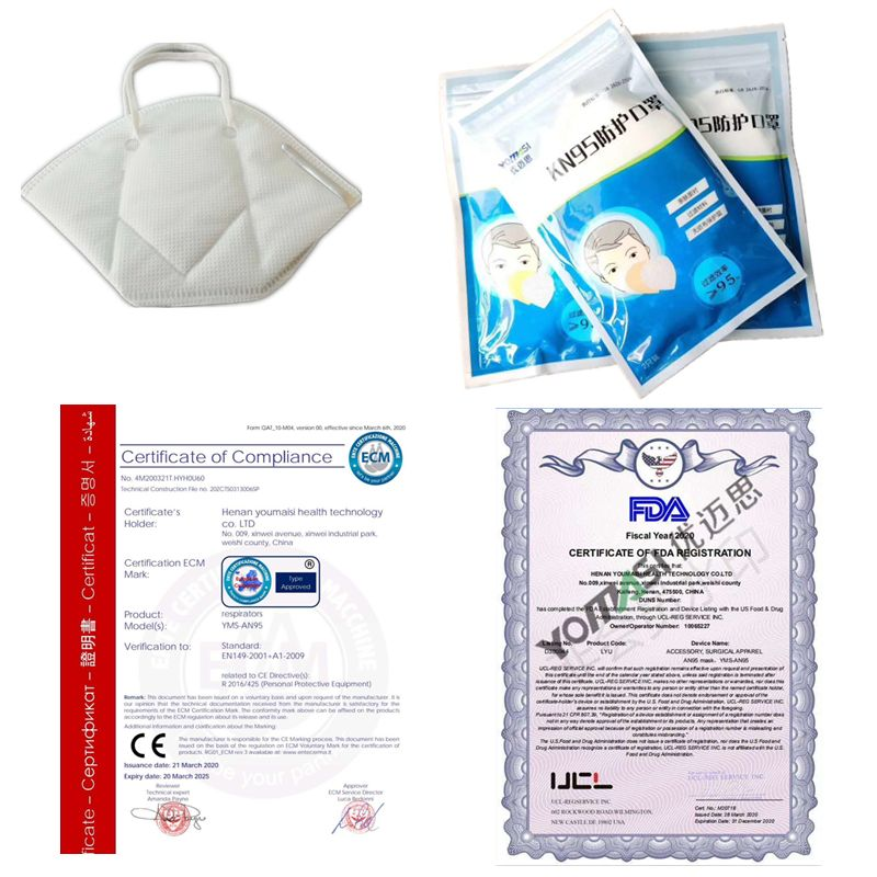 Civilian (non-medical) Kn95 Mask Ce and FDA Testing Standards Certified Products