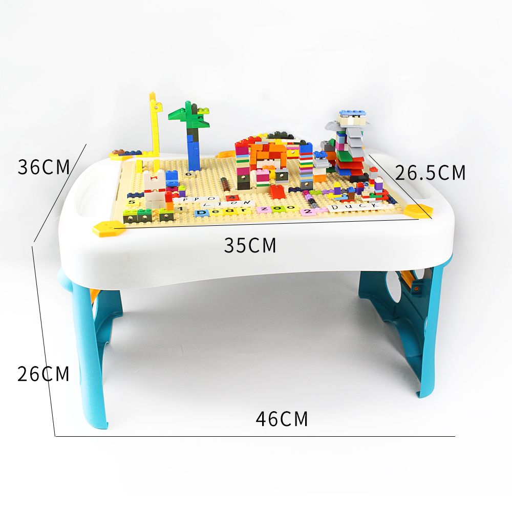 Play platoon kids activity table set -3 in 1 Water table ,Craft table and building brick table with storage