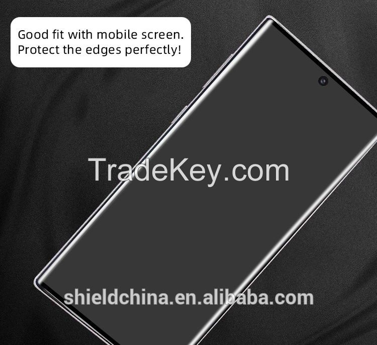 Anti-scractch screen protector 10D good quality tempered glass for samsung note 10 screen protector