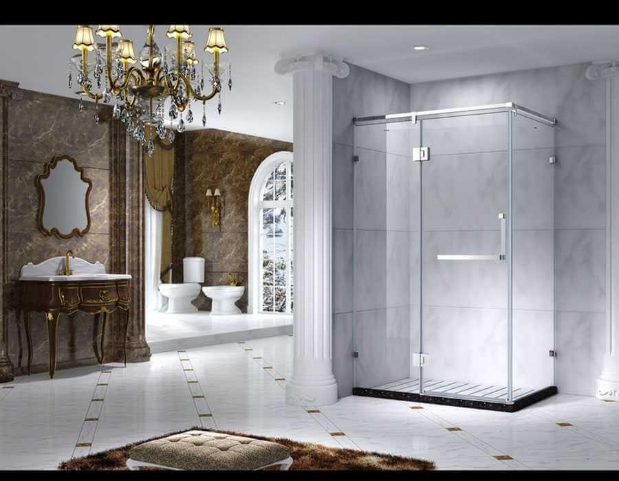 Luxury Style Framed Prime Quadrant Shower Enclosure With Sliding Door, AB 1231