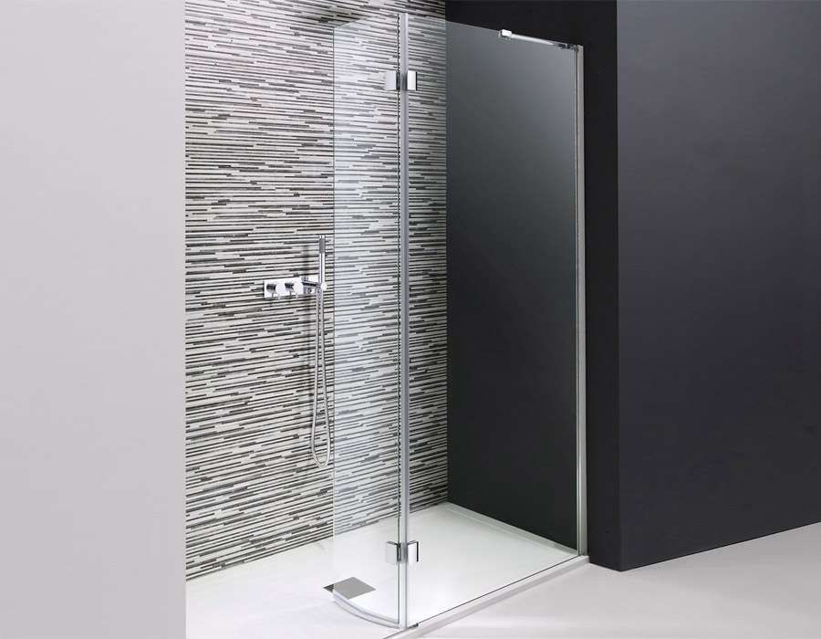 Walk in Easy Access Shower Wall with Pivot Panel, AB 4517