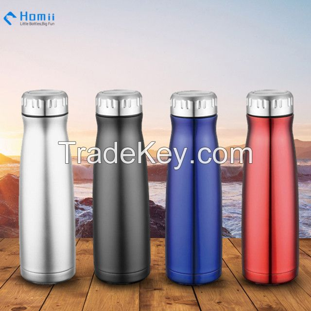 Hangzhou homii Industry 350ml/500ml/750ml Stainless Steel Double Wall Thermos Water Bottle Hydration Bottle