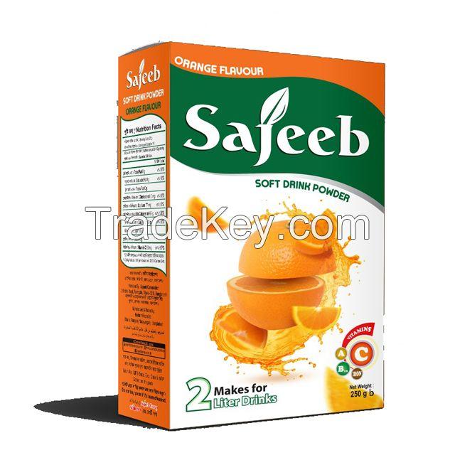 Sajeeb Soft Drink Powder (mango and orange flavor) 125gm, 250 gm and 500 gm