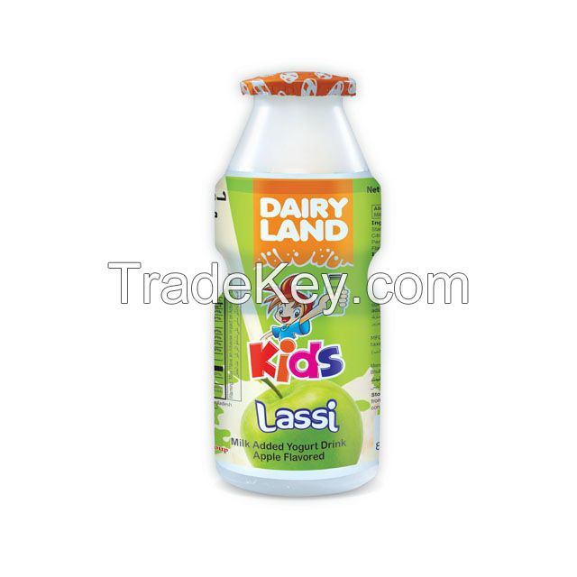 Dairy Land Kids Lassi (Yogurt, Strawberry, Mango and Banana Flavor) 100 ml