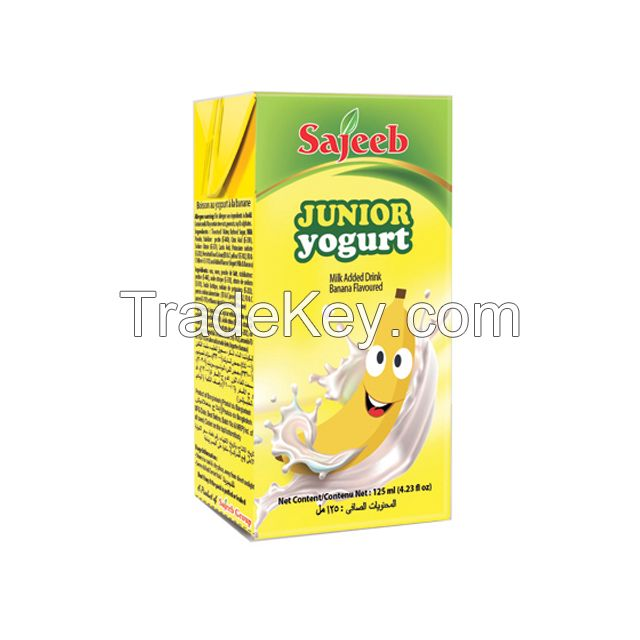 Sajeeb Junior Yogurt Drink (Yogurt, Strawberry, Mango and Banana Flavor) 125 ml