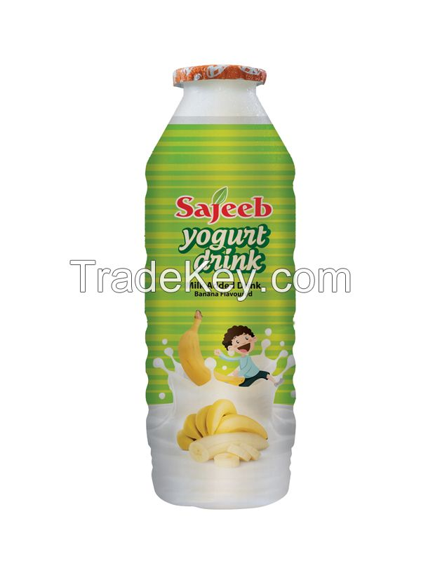 Sajeeb Yogurt Drink (Yogurt, Strawberry, Mango and Banana Flavor) 175 ml