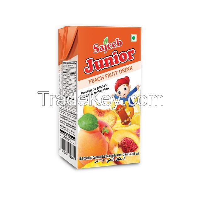 Sajeeb Fruit Drinks (Mango, Orange, Mixed Fruit, Pineapple, Litchi, Apple, Red Grape, Peach) 125 ml