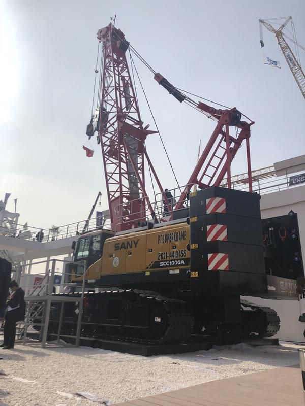 China top brand SANY 100 tons SCC1000A crawler cranes dragline for sale