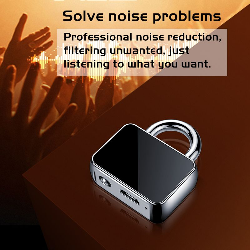 New design lock shape voice recorder hidden key chain sound recorder Q11