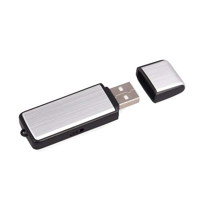 Mini Voice Recorder for Lectures Meetings, 8GB Digital Audio Recorder 96Hours Recording Device, Rechargeable, Metal Case