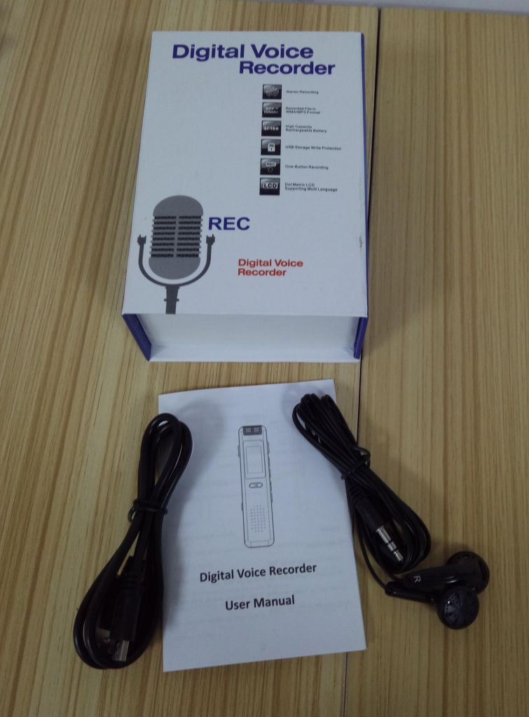 Hot Sale Rechargeable Digital Voice Recorder MP3 Player TF Card Up to 32GB Audio Recording Device
