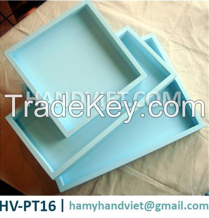 Rectangular lacquer tray