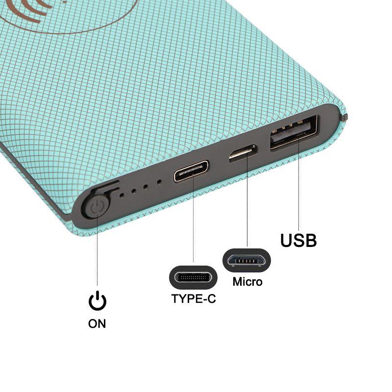 Wholesale Handheld Wireless Charging 10000mAh Mirco Port Type C Power Bank Digital