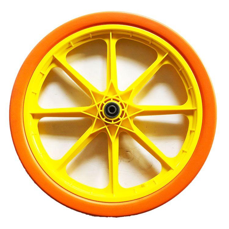 20 inch PU foam solid wheel with plastic hub